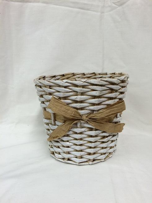 Pletený košík na květináč – Tvořivá dílna f6a760231e